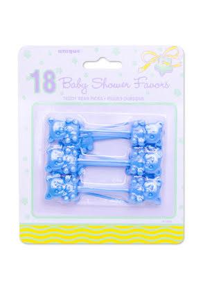 Babyshower picks, blå