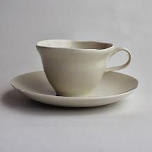 Photo: 白磁 カップ&ソーサ
