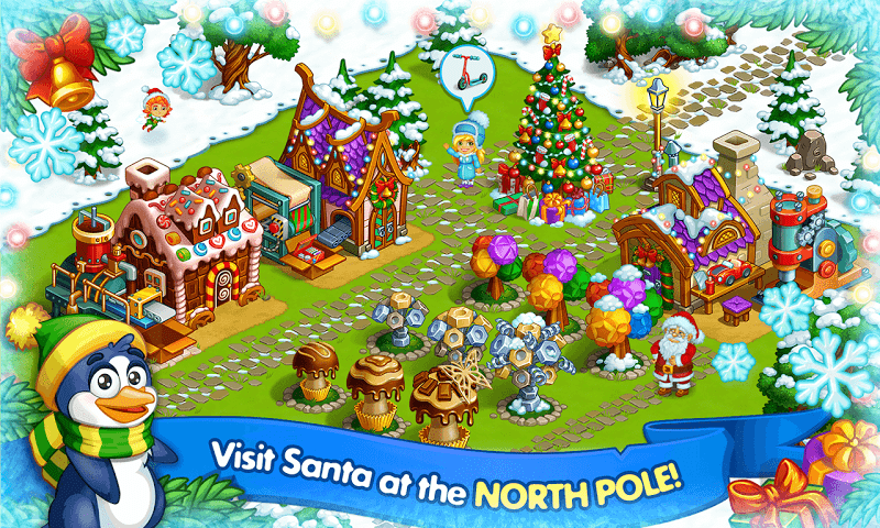 Farm Snow: Happy Christmas Story With Toys & Santa Screenshot 3