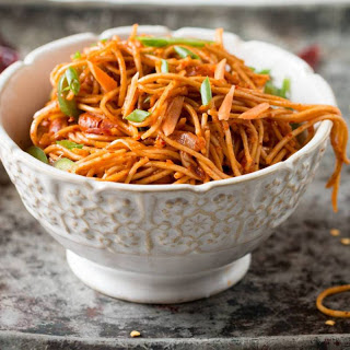 Spicy Schezuan Vegetarian Noodles