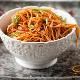 Spicy Vegetarian Noodles Recipes.