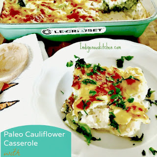 Paleo Cauliflower Casserole with Béchamel Sauce