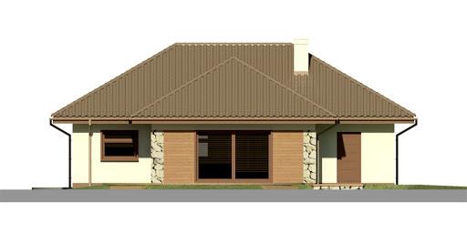 Dom przy Altanowej 2 - Elewacja tylna