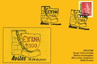 Photo: Tarjeta del matasellos de la Exfilna de Aviles 2000