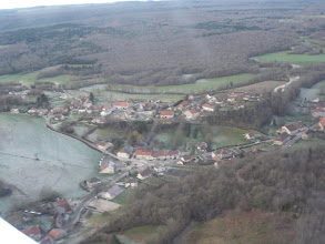 Photo: Le village de montrond vue d'avion le 26/12/2009