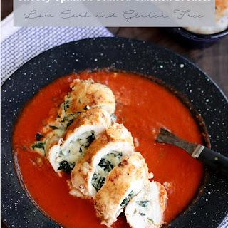 Keto Cheesy Spinach Stuffed Chicken Breast.