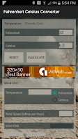 Screenshot of Fahrenheit Celsius Converter