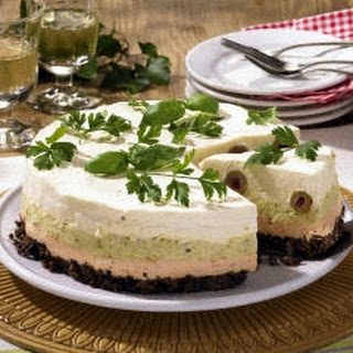 Pikante Frischkäse-Torte