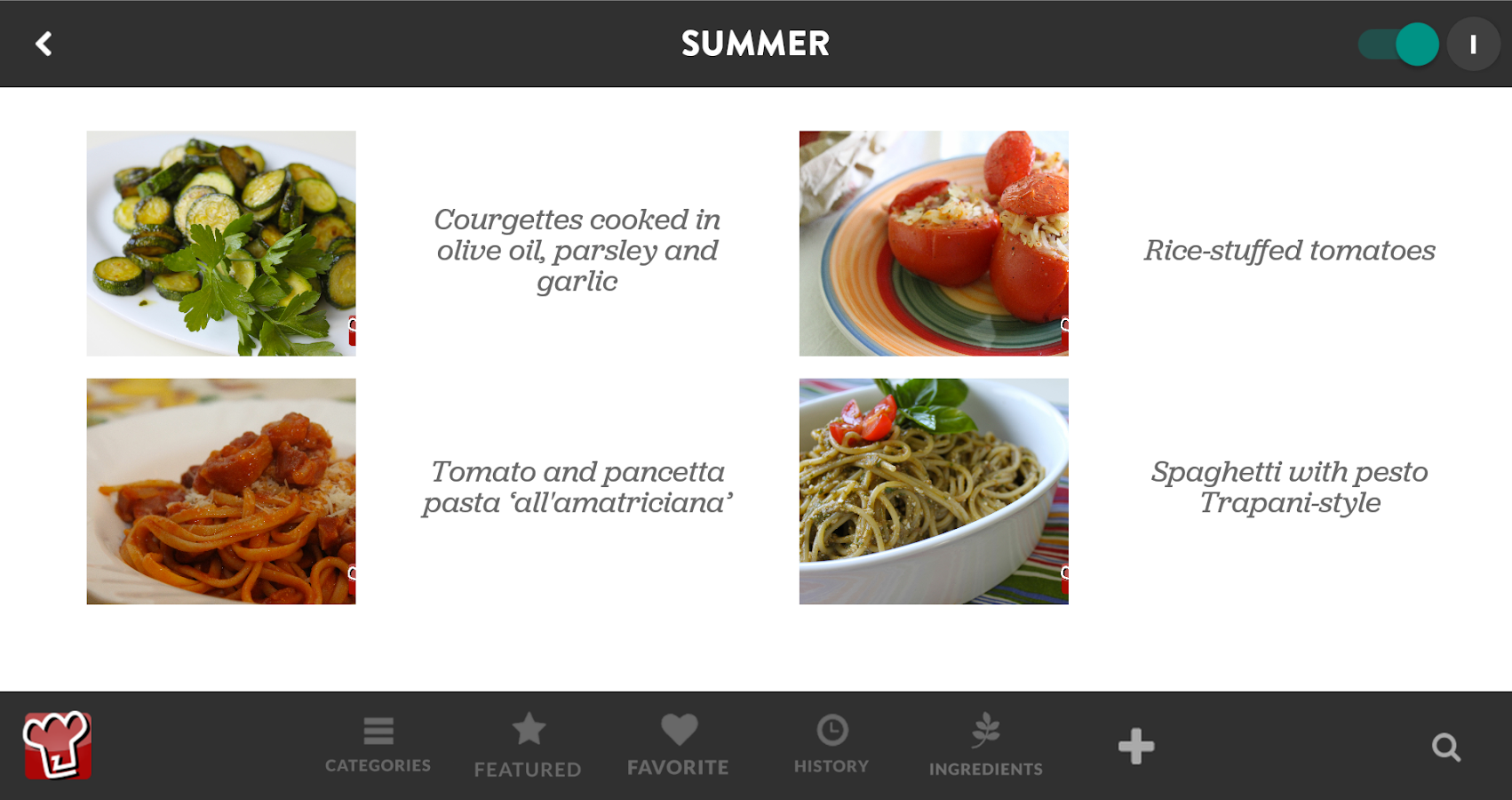 My Italian Recipes- screenshot