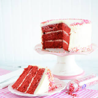 Valentine's Day Red Velvet Cake.