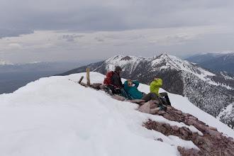 Photo: Enjoying the summit
