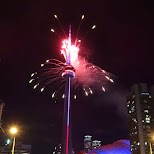 Canada Day fireworks in Toronto, Ontario, Canada