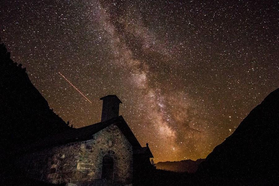 Chapel  by Eden Meyer - Landscapes Starscapes ( sky, stars, night, chapel,  )