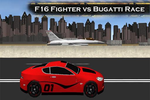 ブガッティ・レースVS F16戦闘機