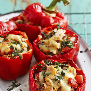 Tuna and Mushroom Stuffed Peppers