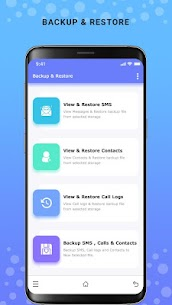 Backup and Restore – SMS, Contacts & Call Log App Download For Android 1
