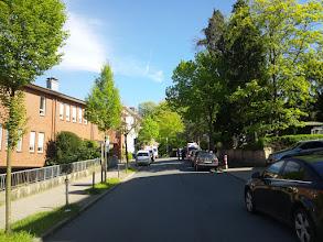 Photo: Blick von der Einmündung der Dömbergstraße in die Grünstraße diese aufwärts zunm Stadtgarten.