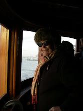 Photo: Pam Hepburn, captain & chief restorer of the Tugboat Pegasus.