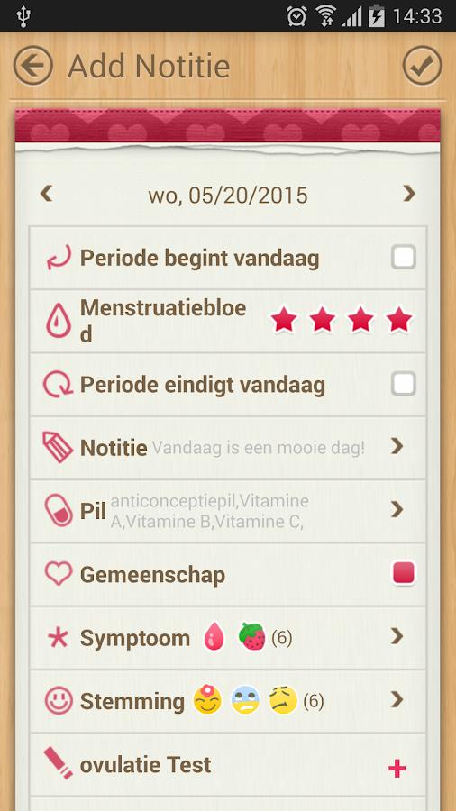 cyclus kalender period tracker menstruatiecyclus. Black Bedroom Furniture Sets. Home Design Ideas