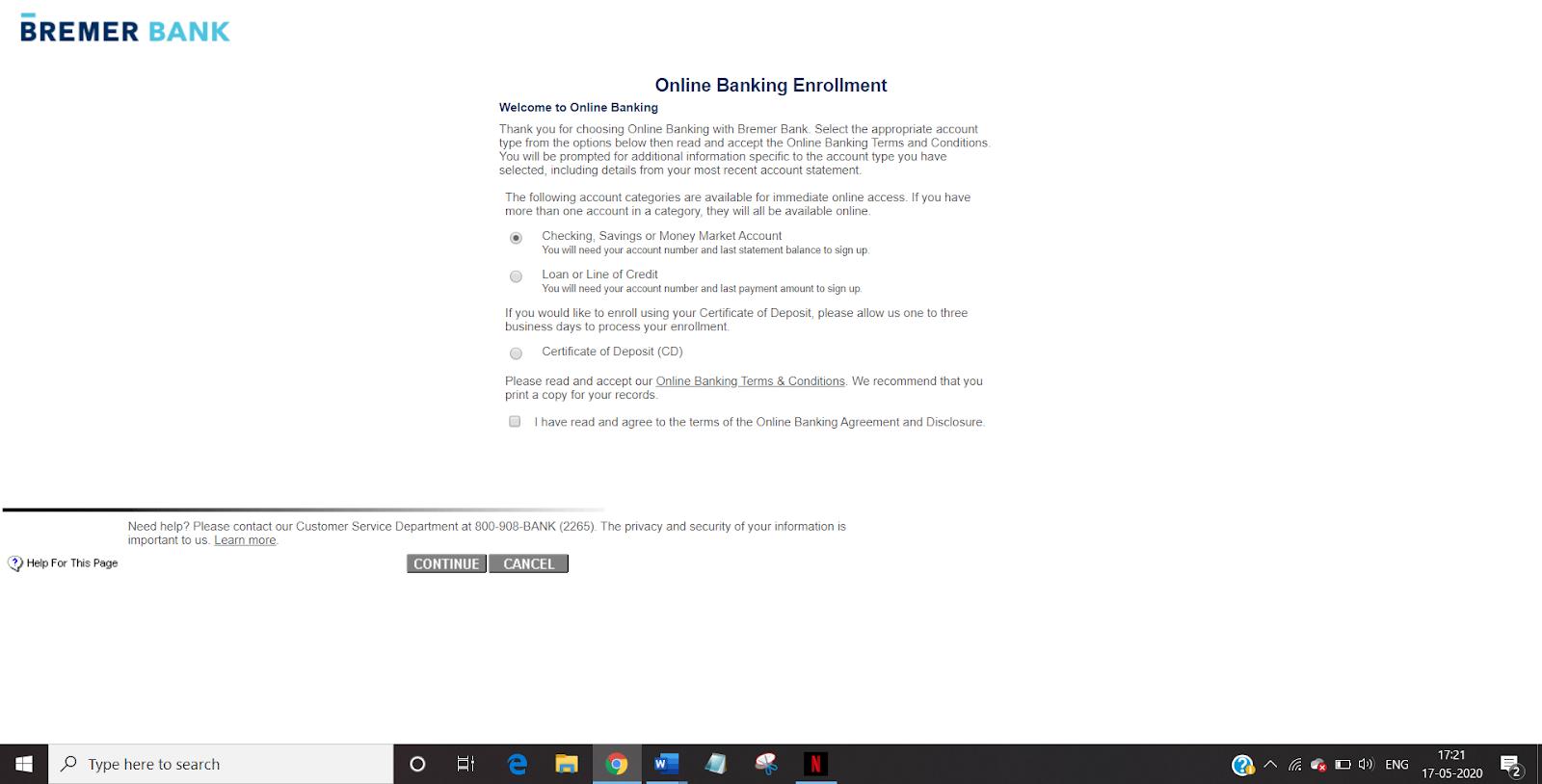 BREMER BANK ONLINE BANKING LOGIN