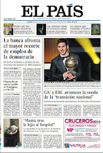 """Photo: En portada de EL PAÍS del martes 8 de enero: La banca afronta el mayor recorte de empleo de la democracia; CiU y ERC arrancan la senda de la """"transición nacional""""; Messi y Del Bosque conquistan el Balón de Oro: http://srv00.epimg.net/pdf/elpais/1aPagina/2013/01/ep-20130108.pdf"""