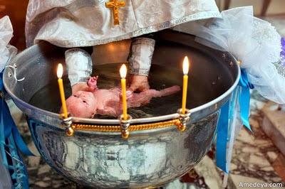 Крещение ребенка в церкви