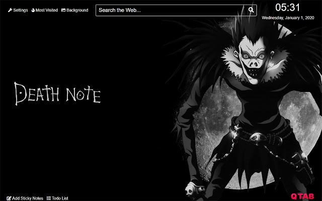 Death note Ryuk Wallpaper for New Tab