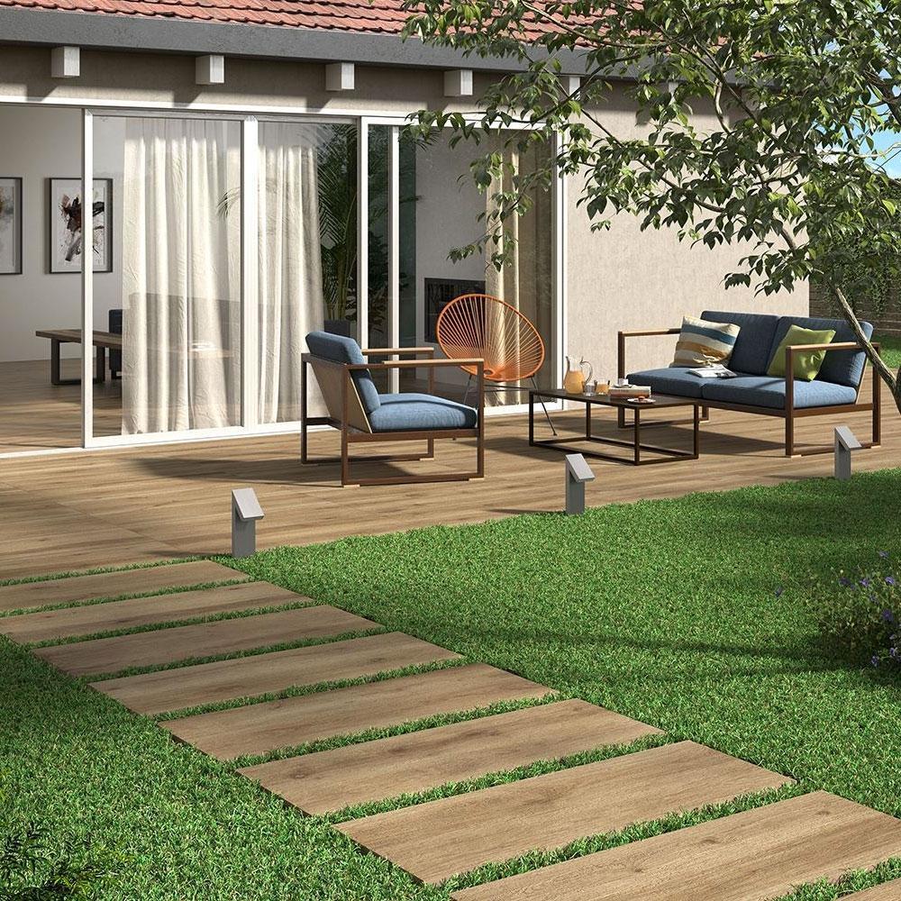 Oak Effect Floor Tiles for Outdoors