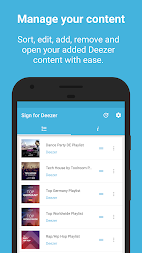 Sign for Deezer - Deezer Widgets and Shortcuts APK screenshot thumbnail 6