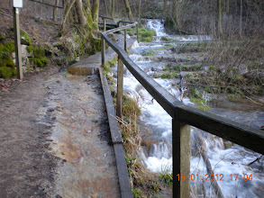 Photo: water finds it way - sharing the path for the tourists *lol*