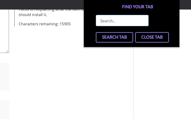 Tabsearch