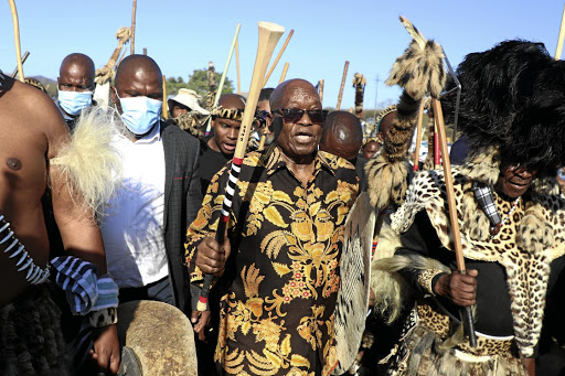 Zulu regiment's actions in support of Zuma a 'clear act of defiance' of the  king, says Buthelezi