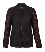 Photo: Rixey Leather Bomber>>  UK>http://bit.ly/P2K3SE US>http://bit.ly/RwYGR2  The Rixey Leather Bomber is inspired by a classic baseball jacket silhouette at the body with biker sleeves. Fully lined and made from garment washed Italian leather with contrast lamb skins, this style features fully quilted oxblood sleeves and shoulder panels. The Rixey Leather Bomber also uses a zip at the cuff, rib detailing at the collar and hem, welt pockets and a gunmetal zip at the centre front with a self leather puller.