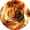 Fire Lion Live Wallpaper icon