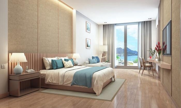 Phòng ngủ được sắp xếp theo phong cách hiện đại