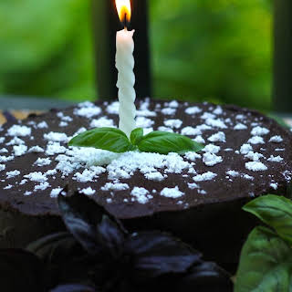Basil Hazelnut Chocolate Cake.