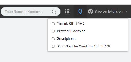 web client phone selector