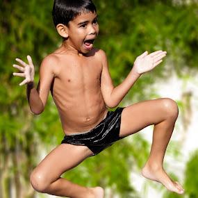 Fun Jump by Annemarie Rulos  - Babies & Children Children Candids (  )