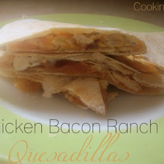 Chicken Bacon Ranch Quesadillas #SundaySupper