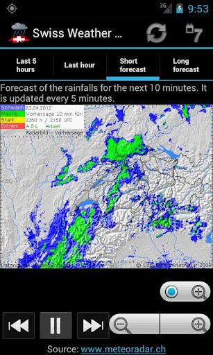 Swiss Weather Radar screenshot 2