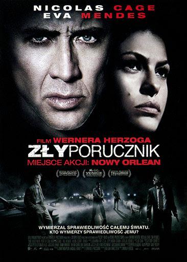 Przód ulotki filmu 'Zły Porucznik'