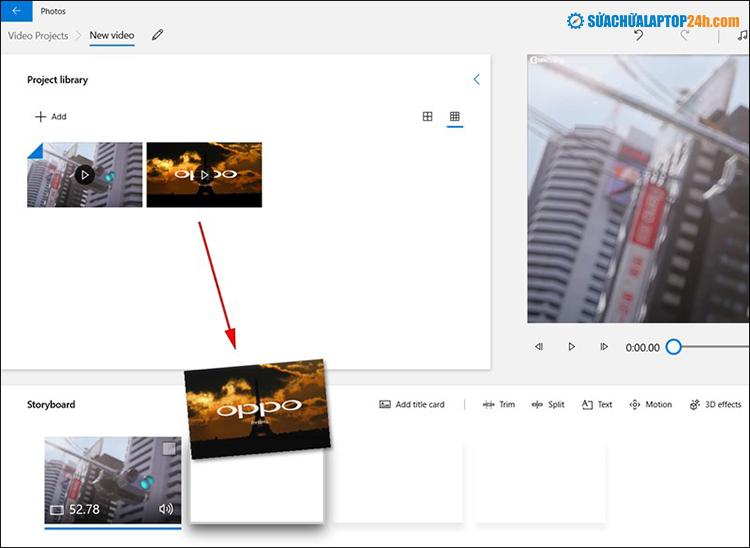 Sắp xếp ảnh và video theo thứ tự hiển thị bạn muốn