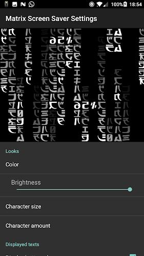 Matrix Screensaver with battery and time APK | APKPure ai