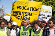 Thousands of learners marched in Cape Town, demanding that steps be taken to improve safety in schools.  Image: GroundUp/ Ashraf Hendricks