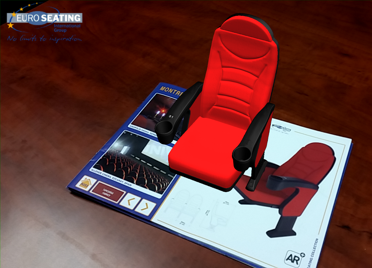 Euro Seating AR: captura de pantalla