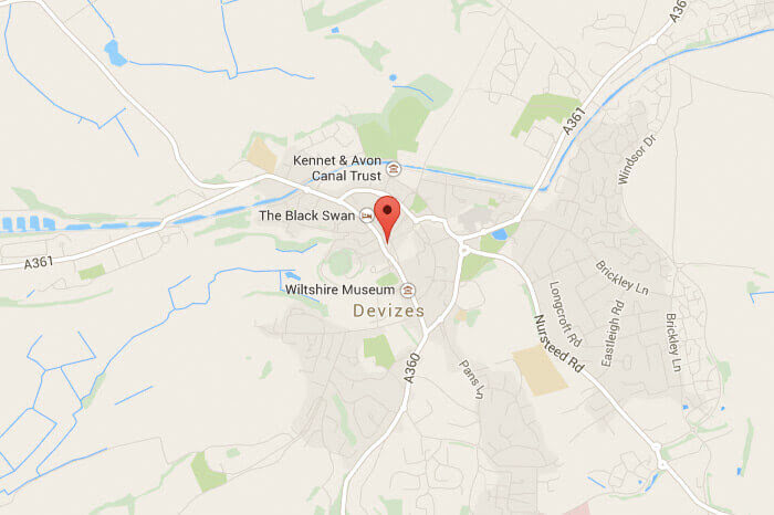 Map of where Martin Walker is located in Devizes