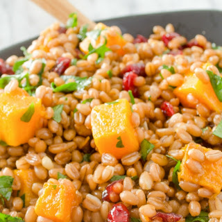 Autumn Butternut Squash and Wheat Berry Salad