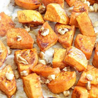 Maple Roasted Sweet Potatoes.