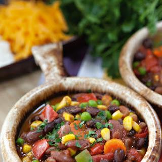 Three Bean Vegetarian Chili.