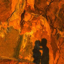 Shadow of love in the Sunset by Andre Minoretti - Digital Art Places ( love, cap ke ga, shadow, mui ke ga, digital art, vietnam, rock )